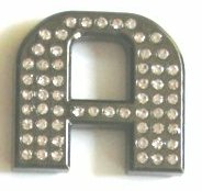 Crystal Letters BLACK 1.2""